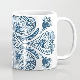 Blue and White Flourish Tile Coffee Mug