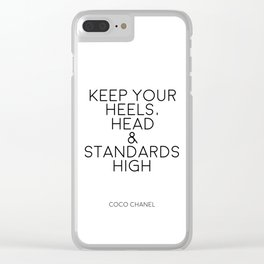 Typography Art,Fashion Print,Fashionista,Wall Art,Home Decor,Inspirational Quote,High Heels Clear iPhone Case
