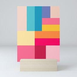 Color Stripes: Bubblegum Pink Mini Art Print