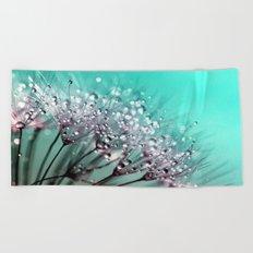 Dew-Drop Diamonds Beach Towel