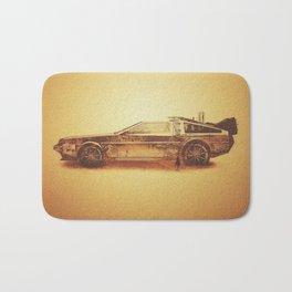 Lost in the Wild Wild West! (Golden Delorean Doubleexposure Art) Bath Mat