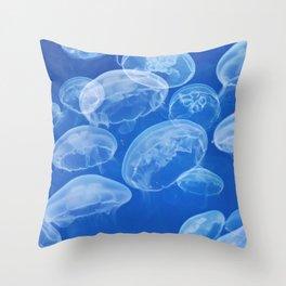 Jellyfish Corner Throw Pillow
