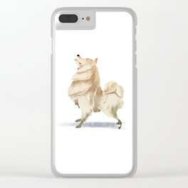 Samoyed Clear iPhone Case