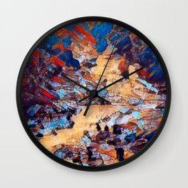 Rocky Riverfall Peak Wall Clock