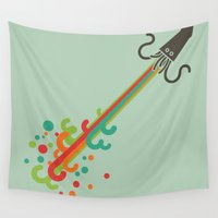 kraken Wall Tapestries featuring Kraken time by Picomodi