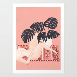 pink on pink on pink Art Print