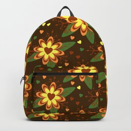 Flowers versus Hearts Backpack