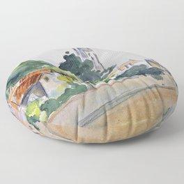 12,000pixel-500dpi - Camille Pissarro - All Saints' Church, Beulah Hill - Digital Remastered Edition Floor Pillow