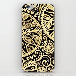 golden heart I love you iPhone Skin