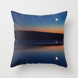 Mirrored Moonlight Throw Pillow
