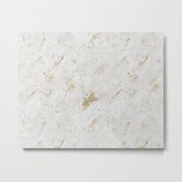 Wind Washed Marble Gold Mine Metal Print