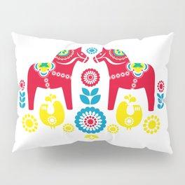 Swedish Dalahäst Pillow Sham