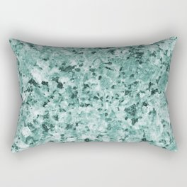Polished granite verde - turquoise stone Rectangular Pillow