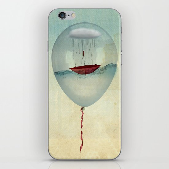 embracing the rain in a bubble iPhone & iPod Skin