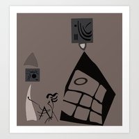 kandinsky Art Prints featuring Kandinsky...comics! by Marcia Borges