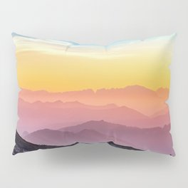 sky blue yellow orange purple Pillow Sham