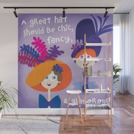 Great Hats Wall Mural