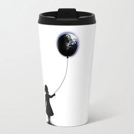 The Girl That Holds The World - White background Travel Mug