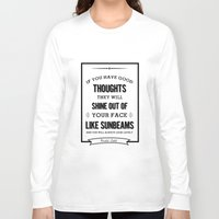 roald dahl Long Sleeve T-shirts featuring Roald Dahl quote  by Dickens ink.