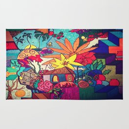 Flowers and colors Rug