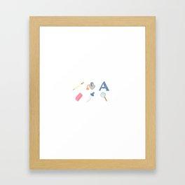 An Artist's Tools Framed Art Print