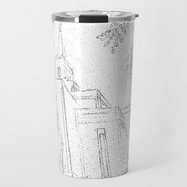 San Salvador El Salvador LDS Temple Sketch Travel Mug