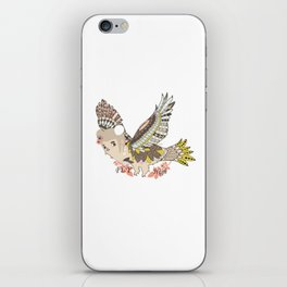 Flying high (a little girl) iPhone Skin
