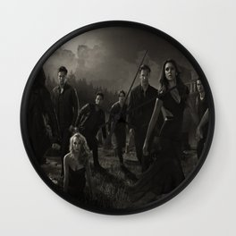 The VampireDiaries Characters Silk Poster Wall Clock