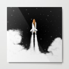 Shuttle Launch Metal Print