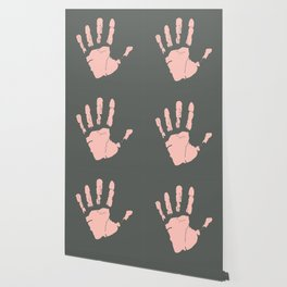 Pink Handprint Wallpaper