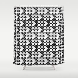 Kingdom Hearts III - Pattern - White Shower Curtain