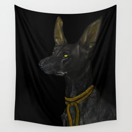 Egyptian Dog Wall Tapestry