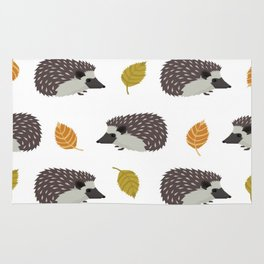 Porcupines, Fall Autumn Leaves Rug