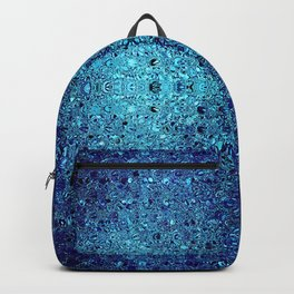 Deep blue glass mosaic Backpack