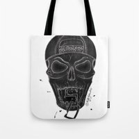 san diego Tote Bags featuring San Diego  by MissLyoness