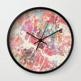 Austin map Wall Clock