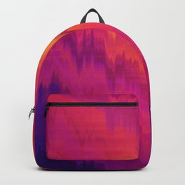 Pink Glitch abstract Backpack