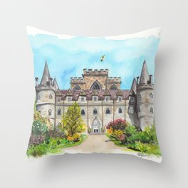 Inveraray Castle Throw Pillow