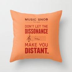 Spooky Scary Dissonance! — Music Snob Tip #439.5 Throw Pillow