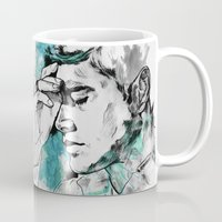 dean winchester Mugs featuring Dean Winchester | Skin by lostinroadsuntravelled
