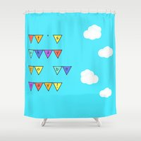 okay Shower Curtains featuring It's Okay by Bunhugger Design