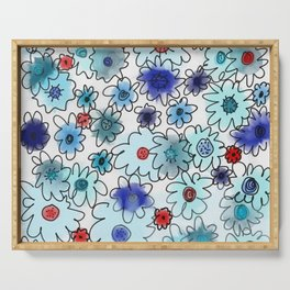 Fleur bleue Serving Tray