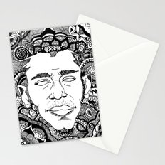 Black on Both Sides Stationery Cards