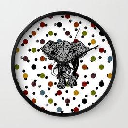Elephant Polka dot  Wall Clock