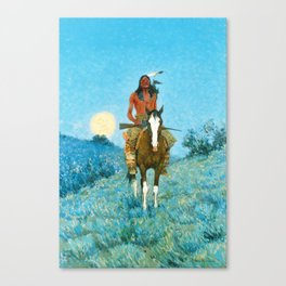 Frederic Remington - The Outlier, 1909 Canvas Print