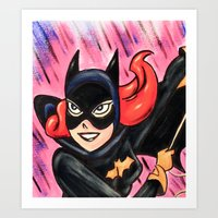 batgirl Art Prints featuring Batgirl by MSG Imaging