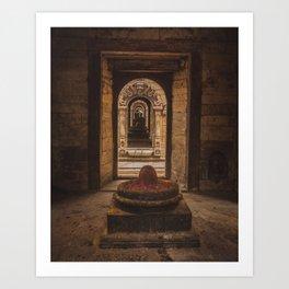 Exploring Pashupatinath Temple in Kathmandu City, Nepal Art Print