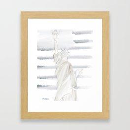 Lady Liberty • Americana Sepia Framed Art Print