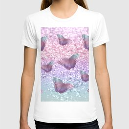 Pastel Unicorn Butterfly Glitter Dream #1 #shiny #decor #art #society6 T-shirt