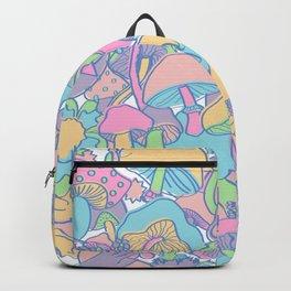Magical Mushroom World in Kawaii Pastel Backpack